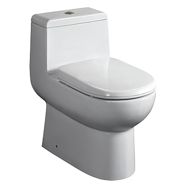 Whitehaus Collection Magicflush Dual Flush Elongated One-Piece Toilet