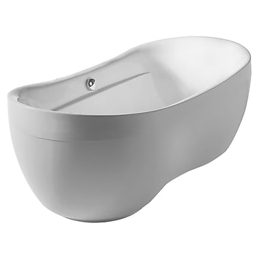 Whitehaus Collection Bathhaus 70.88'' x 35.5'' Freestanding Bathtub