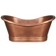 Whitehaus Collection Bathhaus 71'' x 32'' Freestanding Bathtub; Hammered Copper