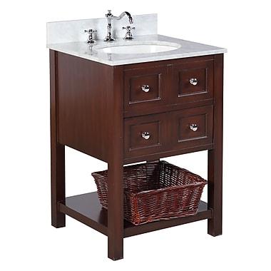 KBC New Yorker 24'' Single Bathroom Vanity Set; Chocolate