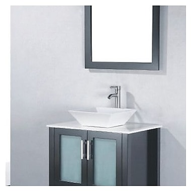Adornus Adrian 24'' Single Bathroom Vanity Set w/ Mirror; Espresso