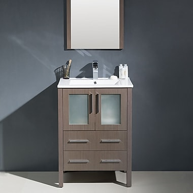 Fresca Torino 24'' Single Modern Bathroom Vanity Set w/ Mirror