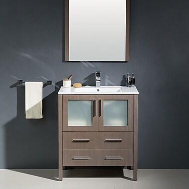 Fresca Torino 30'' Single Modern Bathroom Vanity Set w/ Mirror