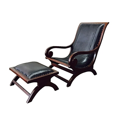 D-Art Collection Lazy Lounge Chair w/ Ottoman