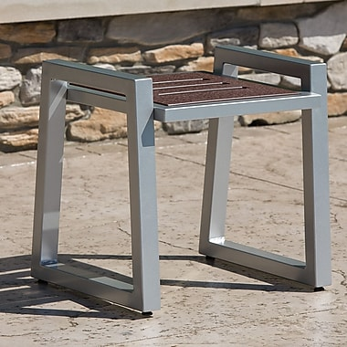 Elan Furniture Vero End Table; Gloss Silver