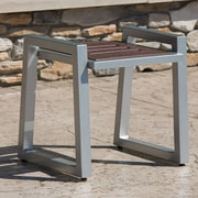Elan Furniture Vero End Table; Gloss Silver