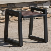 Elan Furniture Vero End Table; Textured Black