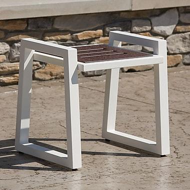 Elan Furniture Vero End Table; Textured White