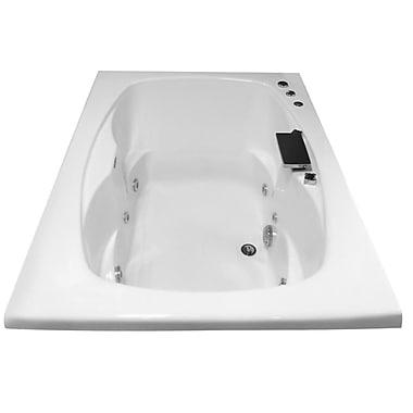 Carver Tubs Hygienic Aqua Massage 60'' x 42'' Whirlpool Bathtub