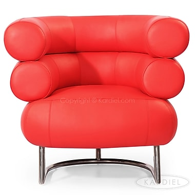 Kardiel Bibendum Leather Barrel Chair ; Red