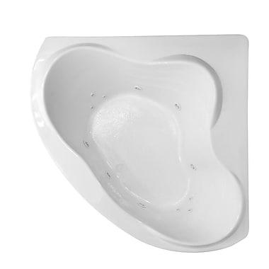 Carver Tubs Hygienic Aqua Massage 59'' x 59'' Whirlpool Bathtub