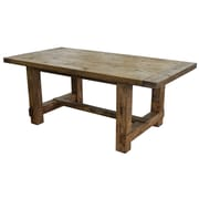 CDI International Country Dining Table; Weathered Pine