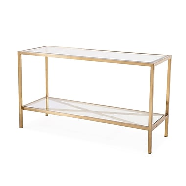 Blink Home Gardner Console Table; Antique Gold