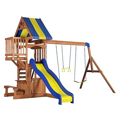 Backyard Discovery Peninsula All Cedar Swing Set