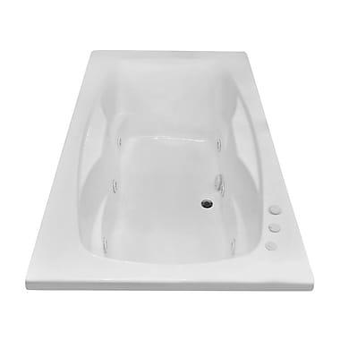 Carver Tubs Hygienic Aqua Massage 72'' x 42'' Whirlpool Bathtub