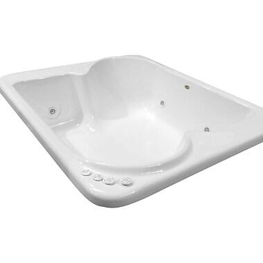 Carver Tubs Hygienic Aqua Massage 72'' x 60'' Whirlpool Bathtub