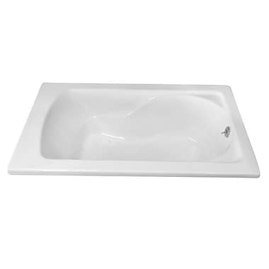 Carver Tubs Hygienic 60'' x 36'' Soaking Bathtub