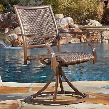 Panama Jack Island Cove Swivel Patio Dining Chair (Set of 2)