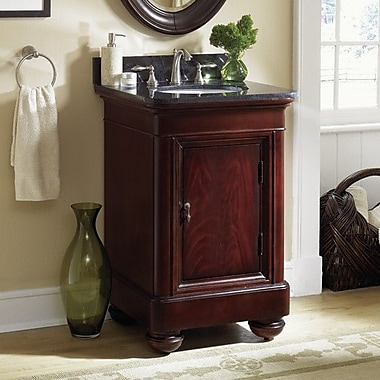 Kaco Mount Vernon 24'' Single Bathroom Vanity Set; Absolute Black