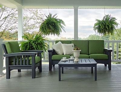 Hershy Way 4 Piece Sunbrella Sofa Set w/ Cushions; Spectrum Cilantro
