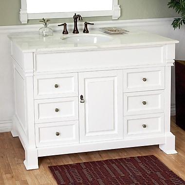 Bellaterra Home Habersham 50'' Single Bathroom Vanity Set; White