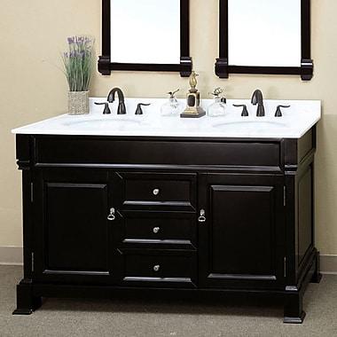 Bellaterra Home Kendall 60'' Double Bathroom Vanity Set; Espresso