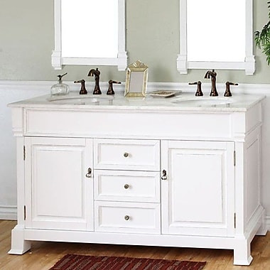 Bellaterra Home Kendall 60'' Double Bathroom Vanity Set; White