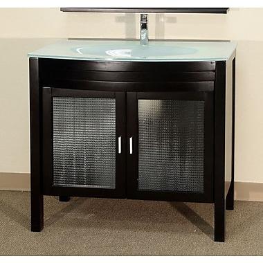 Bellaterra Home Burke 40'' Single Bathroom Vanity Set; Espresso