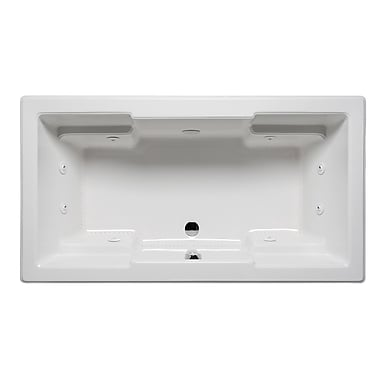 Americh Quantum 72'' x 36'' Drop in Whirlpool Bathtub; White