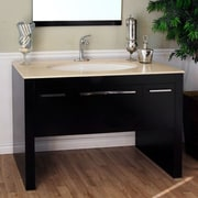 Bellaterra Home Coleman 55 inch Single Bathroom Vanity Set; Cream by