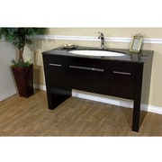 Bellaterra Home Coleman 55 inch Single Bathroom Vanity Set; Tan Brown Marble by