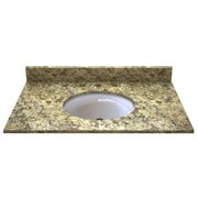Sagehill Granite 37'' Single Bathroom Vanity Top; Desert Beige