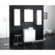 Iotti by Nameeks Time 32'' Single Wall Mounted Bathroom Vanity Set w/ Mirror; Glossy White