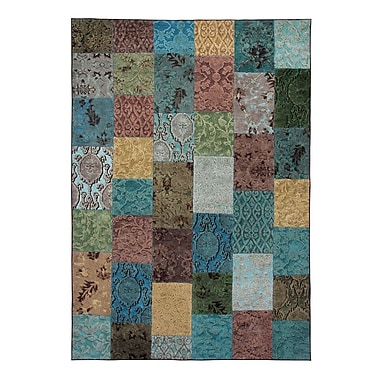 Regence Home O-Patch Atlantic Area Rug; Runner 2'6'' x 7'7''