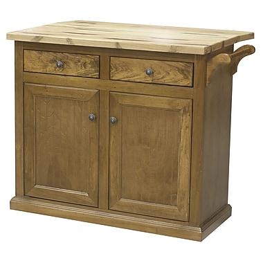 Eagle Furniture Manufacturing Kitchen Island w/ Butcher Block Top; Persimmon Red