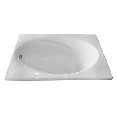 Carver Tubs Hygienic Air Massage 60'' x 42'' Bathtub; Right