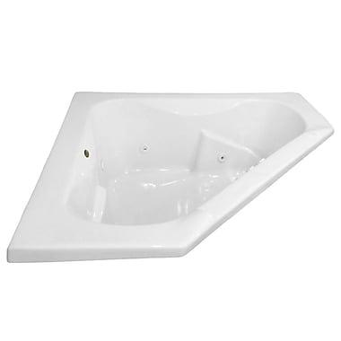 Carver Tubs Hygienic Aqua Massage 60'' x 60'' Whirlpool Bathtub