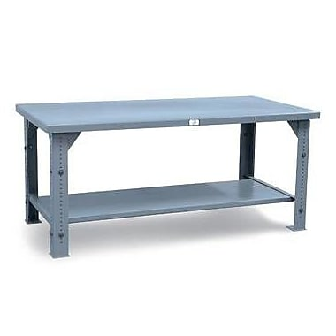 Strong Hold Products Adjustable Height Steel Top Workbench; 36'' H x 72'' W x 30'' D
