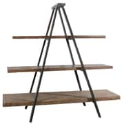 A&B Home A-Frame 73'' Accent Shelves Bookcase