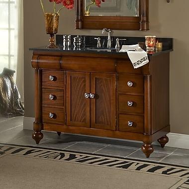 Kaco John Adams 48'' Single Bathroom Vanity Set; Gold Hill Granite