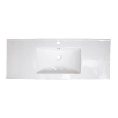 American Imaginations Single Handle 40'' Single Bathroom Vanity Top