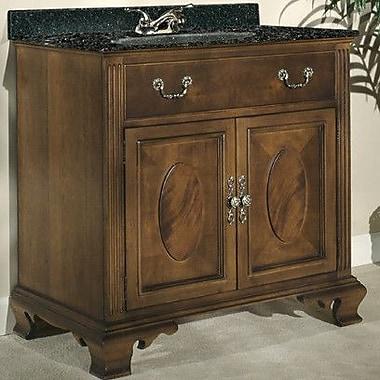 Kaco Dorchester 30'' Single Bathroom Vanity Set; Green Granite