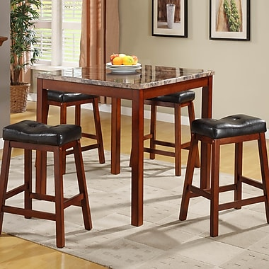 Woodhaven Hill Archstone 5 Piece Counter Height Dining Set; Cherry