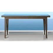 Hospitality Rattan Soho Patio Small Rectangular Woven Dining Table; 78''L x 36''W