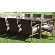 Hospitality Rattan Soho Patio Small Rectangular Woven Dining Table; 78''L x 40''W