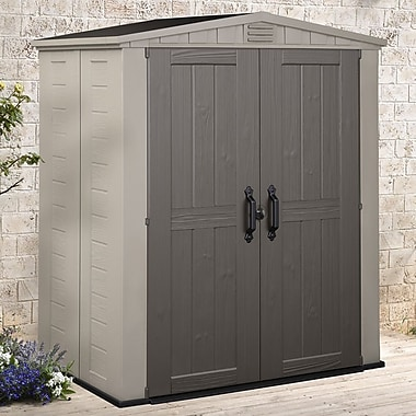 Keter Factor 5 ft. 10 in. W x 3 ft. 9 in. D Plastic Tool Shed