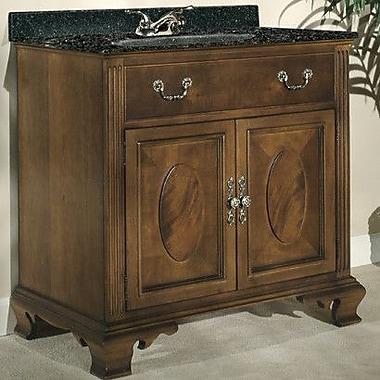 Kaco Dorchester 36'' Single Bathroom Vanity Set; Tan Brown Granite
