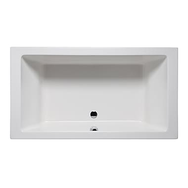 Americh Vivo 66'' x 42'' Drop in Soaking Bathtub; Biscuit