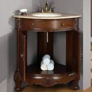 Silkroad Exclusive Hannah 32? Single Sink Cabinet Bathroom Vanity Set