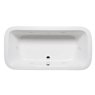 Americh Nerissa 66'' x 34'' Drop in Whirlpool Bathtub; White